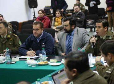 """Intendente Sergio Giacaman preside nueva sesión """"STOP"""" destacando una  baja de 7% en los delitos en el último mes en la Región del Biobío"""