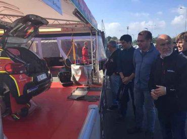 Autoridades supervisan el avance del Centro de Asistencia para el Mundial de Rally