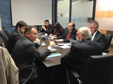 Senador García Ruminot se reunió con fiscal Abbott por aumentodeatentados en La Araucanía