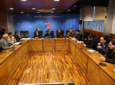 Intendente Giacaman lidera Comité de Protección Civil por sistema frontal