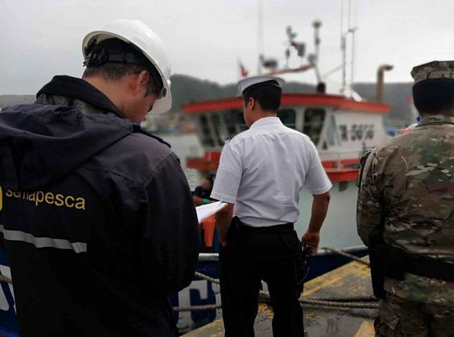 Embarcación de Lebu fue infraccionada por realizar faenas de pesca en aguas de la Región de La Araucanía