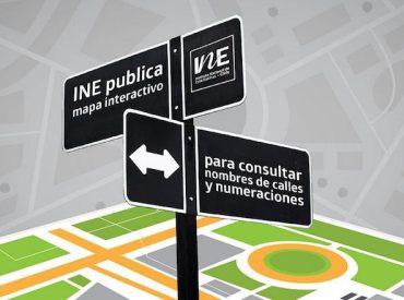 INE publica mapa interactivo para consultar nombres de calles y numeraciones