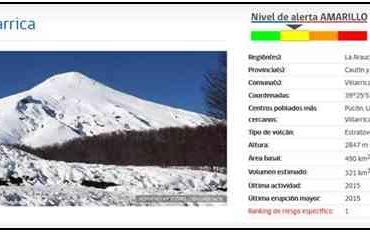 Sernapescaactiva plan de contingencia por alerta amarilla decretada tras actividad de volcán Villarrica