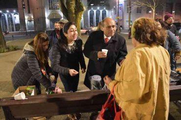 Funcionarios de la Corte de Apelaciones de Concepción organizaron jornada solidaria en la Plaza de la Independencia