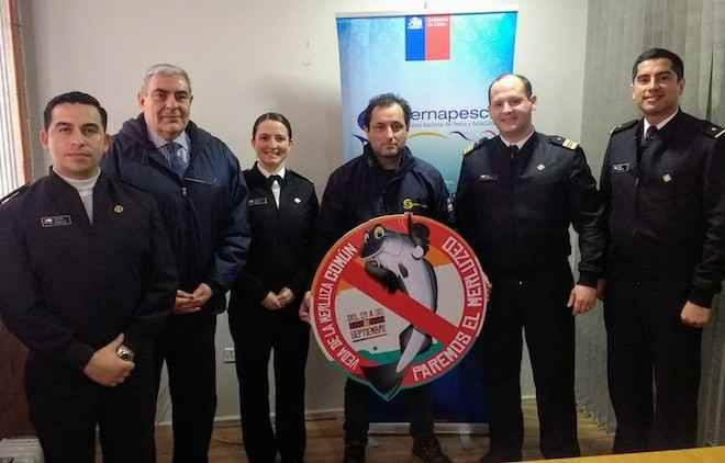 Sernapesca lanzó campaña  de veda de la merluza común en el último desembarque de buque industrial