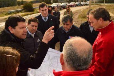 Con visita a terreno informan avance de proyecto de Unidad Operativa de Control de Tránsito de Coyhaique