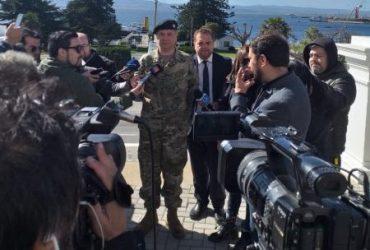 Contraalmirante Carlos Huber llamó a la comunidad en Concepción a trabajar en conjunto para retornar a la tranquilidad