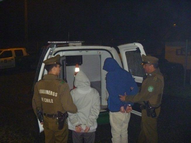 Detienen a antisociales por robo frustrado a notaría en Valdivia