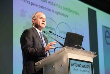"""Ministro Antonio Walker en Enagro 2019: """"Quiero hacer un llamado al sector privado a que enfrentemos juntos la sequía"""""""