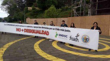 Docentes, funcionarios y estudiantes de la UACh rechazan la violencia de Estado y apoyan las demandas sociales