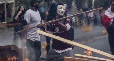 Represión y vandalismo