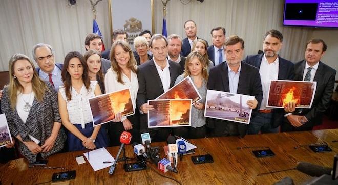ChileVamos llama a la oposición a hacer un esfuerzo conjunto para restaurar el orden público