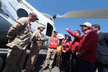 Ministro Walker presentó súper Helicóptero Chinook y la nueva campaña de prevención
