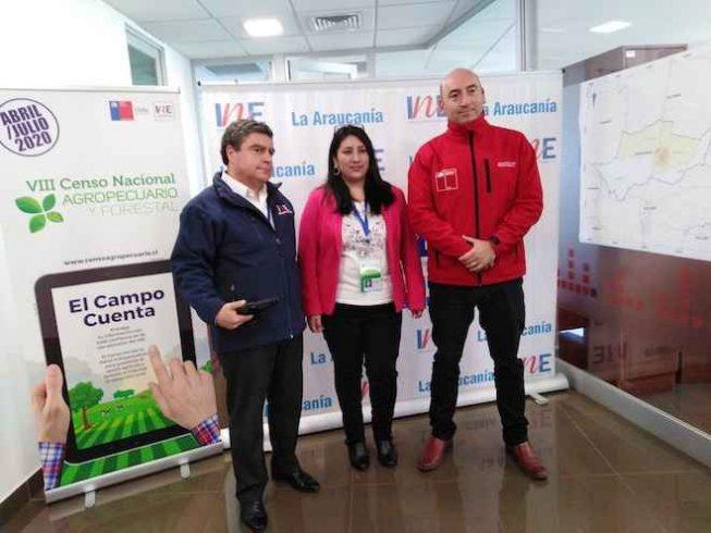 Comenzó en La Araucanía la prueba piloto para el Censo Agropecuario y Forestal que se realizará el próximo año