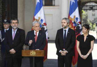 Presidente Piñera anuncia acciones para resguardar el orden público y proteger la seguridad ciudadana