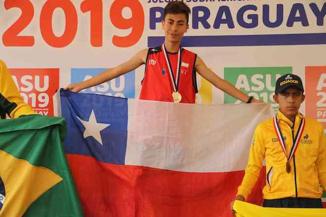 Atleta de Los Ríos ganó medalla de oro en Asunción 2019