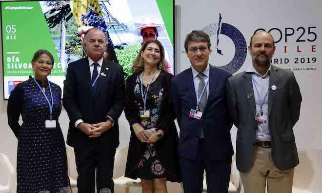 """Ministro Walker encabeza día silvoagropecuario en la COP25: """"Este es un día histórico para la agricultura mundial, queremos ser una solución para enfrentar el cambio climático"""""""