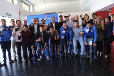 Intendente Giacaman recibió al plantel de Deportes Concepción por su regreso al fútbol profesional