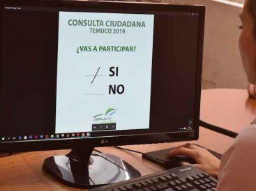 Municipio de Temuco se sumará a consulta ciudadana nacional mediante voto electrónico