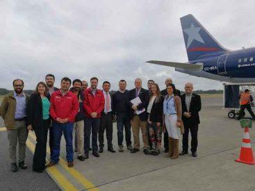La región realiza su primera exportación a través del Aeropuerto Araucanía