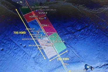 Medios aéreos y navales exploran Mar de Drake mediante cuadrantes en búsqueda de aeronave C-130