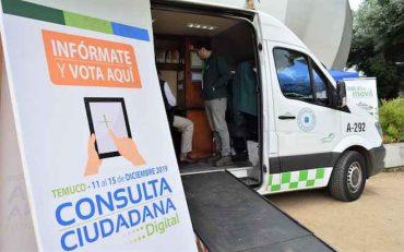 Más de 40 mil vecinos participaron de la primera consulta ciudadana digital en Temuco