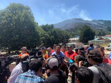 Incendios en el sur: Comando Unificado combate incendios en Maule Biobío y La Araucanía