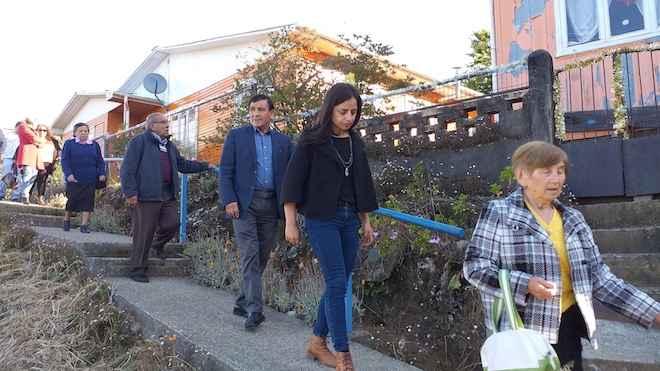 Iniciativa del FOSIS financió instalación de barandas en cerros de Corral