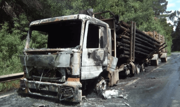Ataques incendiarios a contratistas forestales se mantienen en 2019 y se concentran en cinco comunas del país
