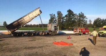 4 empresas estaban ocupadas de la faena en la empresa Agrícola Marafra donde resultaron muertos dos trabajadores