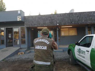 Investigan robo de caja fuerte en servicentro de Coñaripe