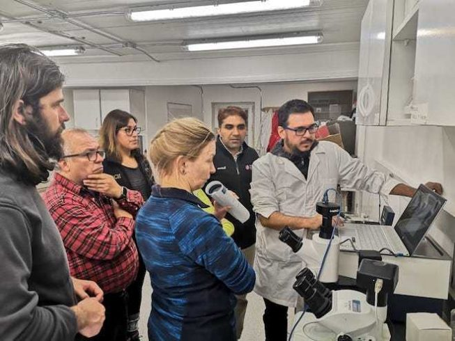 Realizan primera secuenciación masiva de DNA en base Escudero
