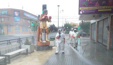 Municipio de Osorno dispone de nuevos insumos para sanitizar calles con alto flujo de tránsito