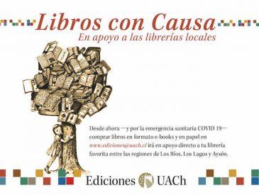 """""""Libros con causa"""": Ediciones UACh presenta novedades y campaña de apoyo a librerías locales"""