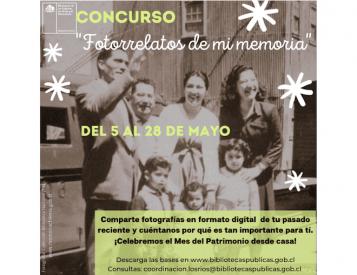 """Invitan a participar en el concurso """"Fotorrelatos de mi memoria"""" en la región de LosRíos"""
