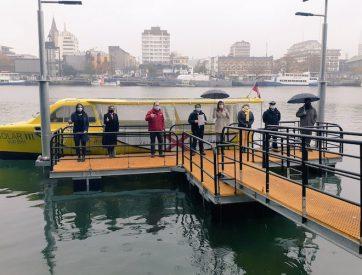 MOP entregó al municipio de Valdivia tres muelles para potenciar el transporte fluvial en el río Calle Calle