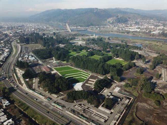 En febrero abrirá al público la primera etapa del Parque Urbano Isla Cautín