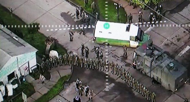 Continúa conflicto racista en el sur de Chile: violento desalojo en municipio de Tirúa