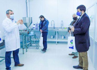 Inauguran primera planta de alcohol gel del sur de Chile