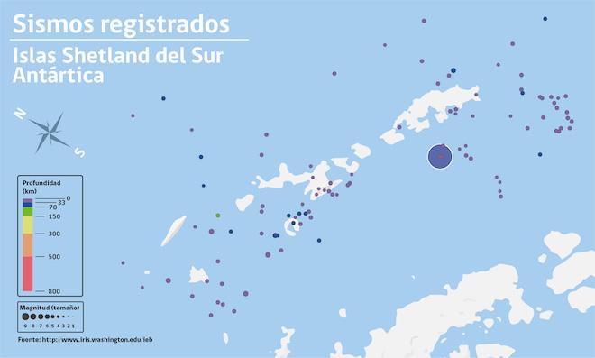 Sismos en Antártica se perciben desde el fin de semana pasado: descartan riesgo de tsunami