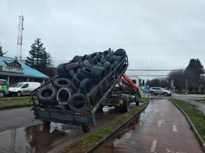 837 neumáticos fuera de uso logró reunir campaña de recolección en Puerto Aysén