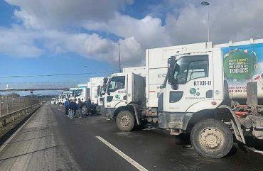 """Ante paro de camioneros: Corte de Puerto Montt dispone tránsito de recolectores """"con escolta y protección de Carabineros"""""""