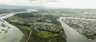 La calidad del agua potable de la ciudad de Valdivia se vería afectada por el descenso de los caudales