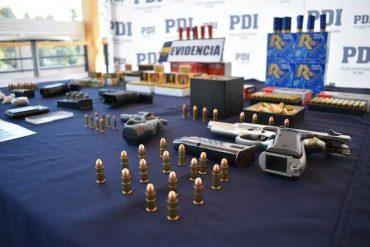 PDI y Fiscalía sacan de circulación armas de fuego y munición de diverso calibre de la ciudad de Coyhaique
