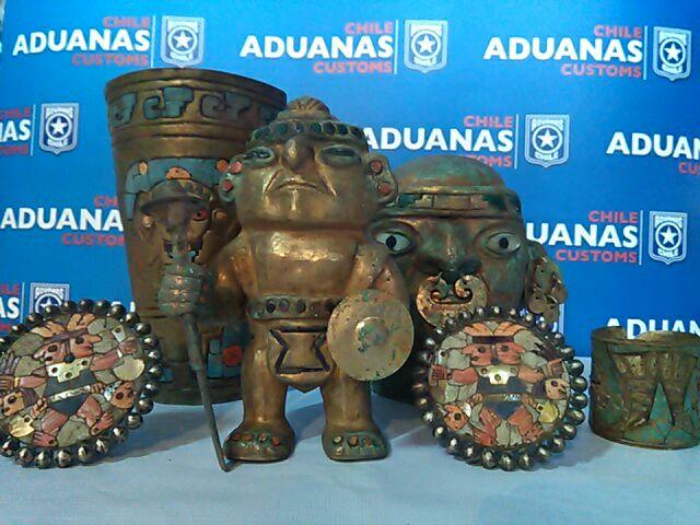 Aduanas controlará envíos de piezas arqueológicas desde Chile a Estados Unidos