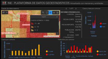 Mapa interactivo muestra información georreferenciada sobre sobre Covid-19 en Chile