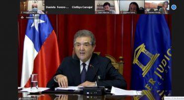 """Presidente de la Corte Suprema: """"Queremos aportar en lo que podamos para hacer en Chile una justicia mejor de la que es ahora"""""""