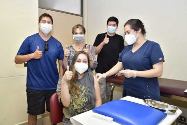 Familia osornina participa del estudio de vacuna contra el covid-19