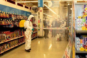 Implementan innovadora sanitización con nanopartículas de cobre de alta gama en supermercado de Concepción