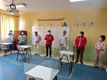 Autoridades del Biobío supervisan implementación de protocolos en establecimientos educacionales para el inicio del año escolar 2021